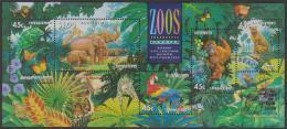 AUSTRALIA - USED 1994 Zoos Souvenir Sheet - Overprinted Sydney Stamp & Coin Show - 1990-99 Elizabeth II