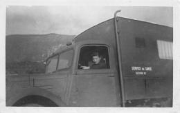 GUERRE 1939 45  AMBULANCE DES CHANTIERS DE JEUNESSE  CONDUCTEUR FEMININ  15 OCTOBRE 1943  SANTE  AUTOMOBILE  CARTE PHOTO - Weltkrieg 1939-45