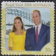 AUSTRALIA - DIE-CUT-USED 2014 70c Royal Visit To Australia By The Duke And Duchess Of Cambridge - 2010-... Elizabeth II