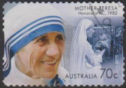 AUSTRALIA - DIE-CUT-USED 2015 70c Honoured By Australia - Mother Teresa - Used Stamps