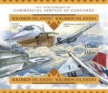 SOLOMON ISLANDS 2016 SHEET CONCORDE AVIATION PLANES AVIONES Slm16204a - Solomon Islands (1978-...)