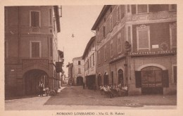 CPA ROMANO LOMBARDO - VIA G . B . RUBINI - Italie