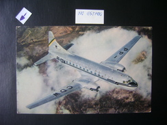 OFFICIAL POSTCARD OF THE COMPANY AEREA CRUZEIRO DO SUL (BRAZIL), AIRPLANE CONVAIR 340 IN THE STATE - 1946-....: Era Moderna
