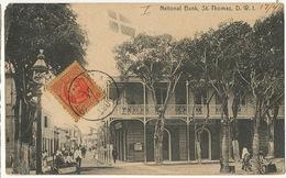 Danish West Indies ST Thomas  National Bank DWI Lightbourn's Used 1909 To Matanzas Cuba Defect Top Left Corner - Vierges (Iles), Amér.