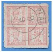 ALLEMAGNE --MECKLENBOURG-SCHWERIN  -- N° 5  4/4 -- OBLITERATION DE PLAU AM SEE--TB-- - Mecklenburg-Schwerin