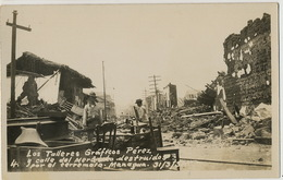 Real Photo Earthquake Managua Los Talleres Graficos Pérez Calle Del Mercado Terremoto Tremblement De Terre March 31/1931 - Nicaragua