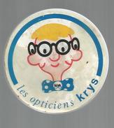 Publicité , Jeu Du Labyrinthe , 2 Billes , LES OPTICIENS KRYS ,diamétre : 8 , 2 Scans , Frais Fr : 1.55 € - Pubblicitari