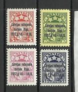 LETTLAND Latvia 1932 Michel 206 - 209 * - Lettland