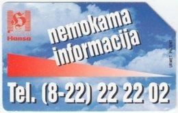 LITUHANIA A-259 Magnetic Telekomas - Used