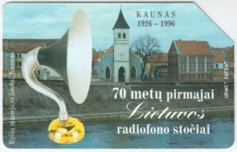 LITUHANIA A-301 Magnetic Telekomas - Culture, Church - Used