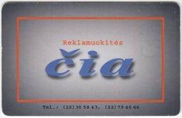 LITUHANIA A-329 Chip Telekomas - Used