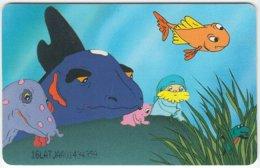 LATVIA A-078 Chip Lattelkom - Cartoon, Prehistoric Animals, Dinosaur - Used