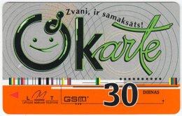 LATVIA A-088 Prepaid Okarte - Used