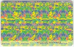 LATVIA A-096 Chip Lattelkom - Painting, Modern Art - Used