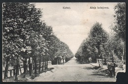 A2797 - Alte Ansichtskarte - Kutno - Aleja Kolejowa - Gel. 1. WK WW - Feldpost - Defekt !!!! - Posen