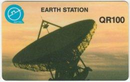QATAR A-078 Magnetic - Communication, Satellite Dish - Used