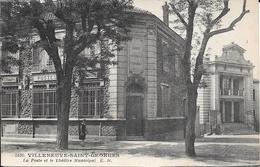 94 VILLENEUVE SAINT GEORGES 1932 La Poste Et Le Théâtre Municipal - Villeneuve Saint Georges