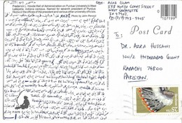 USA Post Card 1990 Indian Headdresses Shoshone Commemorative Frederick L.Hovde Hall - Brieven En Documenten