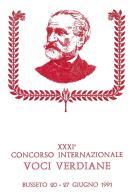 [MD0978] CPM - IN RILIEVO - BUSSETO (PARMA) - XXXI° CONCORSO INTERNAZIONALE VOCI VERDIANE - GIUSEPPE VERDI - NV 1991 - Parma