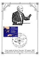 [MD0983] CPM - IN RILIEVO - CASA NATALE DI ARTURO TOSCANINI INAUGURAZIONE DEL MUSEO - CON ANNULLO 29.8.1987 - NV - Cantanti E Musicisti