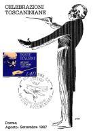 [MD0984] CPM - IN RILIEVO - PARMA - CELEBRAZIONI TOSCANIANE - ARTURO TOSCANINI - CON ANNULLO 29.8.1987 - NV - Cantanti E Musicisti