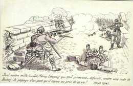 Militaria Seul Contre Mille!.. Le Heros Ecossais Qui Seul Survivant ..defendit Contre Une Nuée De Boches Le Passage D'un