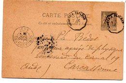 203  Cachet Convoyeur Ligne Lodève à Paulhan 1891 - Poststempel (Briefe)