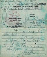 CARTOLINA PRIGIONIERI UNITED STATES POW CAMP MONTICELLO ARKANSAS 1944 BUTERA - 1900-44 Vittorio Emanuele III