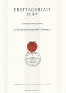 BRD / First Day Sheet (1977/22) 5300 Bonn 1: 500 Years Of The University Of Tübingen (seal - Coat Of Arms) - Armoiries