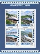 SOLOMON ISLANDS 2016 SHEET JAPANESE FAST TRAINS SPEED TRAINS TRENES ALTA VELOCIDAD TRAINS GRANDE VITESSE Slm16504a - Islas Salomón (1978-...)