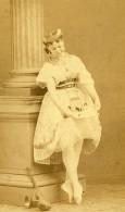 France Paris Coralie Brache Danseuse De L'Opéra & Mime Ancienne Photo CDV Disderi 1870