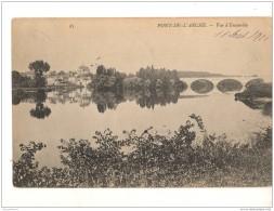 PONT DE L'ARCHE Eure Vue D'ensemble, Circulée 1906, Par COulommiers Et Aurillac - Pont-de-l'Arche
