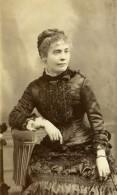 France Paris Comtesse Louise Marie De Chalvet De Rochemonteix Ancienne Photo CDV Lejeune 1880