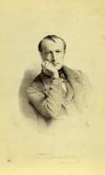 France Paris Alphonse De Lamartine Poete Romancier Ancienne Photo CDV Goupil 1870