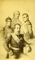 France Paris Les Pères Des Quatre Napoléon Ancienne Photo CDV Sobaux 1870