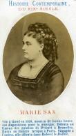 Chanteuse D' Opera Belge Soprano Marie Sasse Sax Ancienne Photo CDV 1870