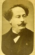 France Paris Ecrivain Alexandre Dumas Fils Ancienne Photo CDV Teruel 1870