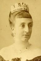 France Paris Isabelle D'Orléans Comtesse De Paris Ancienne Photo CDV Chalot 1900 - Photos
