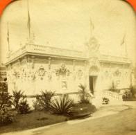 France Paris Expo Universelle Societe Des Pastellistes Anciennne Photo Stereo Transparente LL 1889 - Stereoscopic