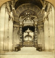 France Paris Hotel Des Invalides Chapelle Napoleon I Anciennne Photo Stereo Transparente GAF 1860 - Stereoscopic