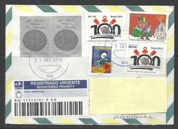 Brasilien 2012 R-Brief Nach Deutschland Mit Mischfrankatur - Brasilien