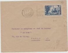 1936 - ENVELOPPE Avec MECA De BORDEAUX (GIRONDE) Avec SEUL N° 307 - Marcophilie (Lettres)