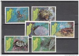 Belice Nº 603 Al 608 Defectos En La Goma - Belice (1973-...)