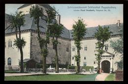 [031] Augustusburg, Schloss-Restaurant Schlosshof, Gel. 1907, Verlag Friedrich (Leipzig) - Augustusburg