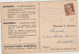 CP LABORATOIRE KINESERYL Avec GANDON PREOBLITERE - Storia Postale