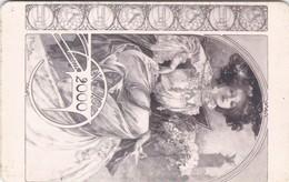 Czech Rep. C289, Bohemian Artist - Mucha, Woman, 2 Scans.