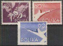 POLEN 1957 MI-NR. 1005/07 ** MNH - Neufs