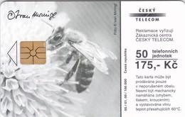 Czech Rep. C302, Moringl - Garden, Bee, 2 Scans.