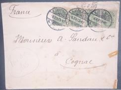 DANEMARK - Enveloppe De La Légation De France à Copenhague Pour Cognac En 1897  - L 7094 - 1864-04 (Christian IX)