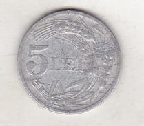 Romania 5 Lei 1947 - Rumänien